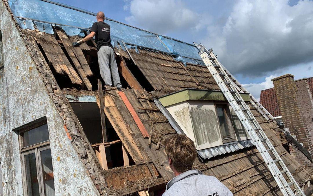 Volledige renovatie oud pannendak